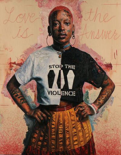 Tim Okamura, 'Stop the violence', 2019