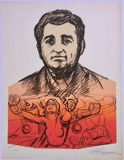 David Alfaro Siqueiros, 'HEROIC VOICE (Homage to Ruben Salazar) ', 1971