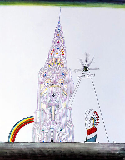 Saul Steinberg, 'Saul Steinberg Empire State Building lithograph  ', ca. 1970