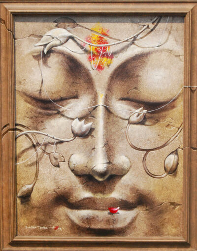 Sanatan Dinda, 'Yug-Purush, Buddha, enlightened man by Indian Visual Artist Sanatan Dinda', 2007