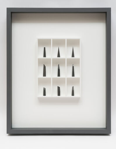 Paul Fry, '9 pieces of graphite (the edge of silence)', 2019