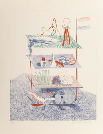 David Hockney, 'Serenade, from The Blue Guitar', 1976-77