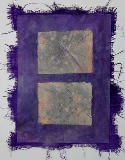 Grace Bakst Wapner, 'Purple with X Squares', 2019
