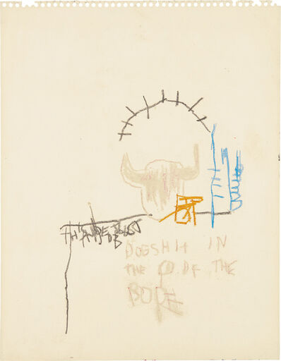 Jean-Michel Basquiat, 'Dog Shit in the Head of the Pope'