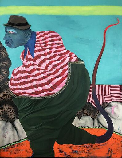 Simphiwe Ndzube, 'Figure with a Whip Leg', 2019