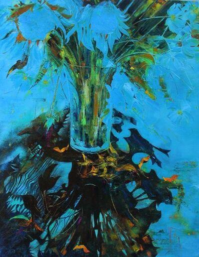 Nadine PILLON, 'Bouquet d'azur', 2018