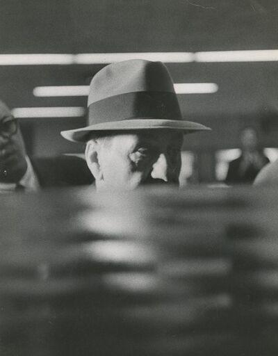 "Art Shay, 'Mafia Boss Tony Accardo in a Chicago Courthouse ""Photography""', 1959"