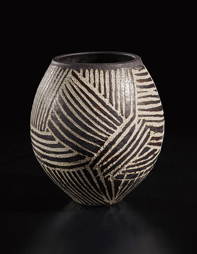 Hans Coper, 'Early and large vase with abstract design', circa 1952