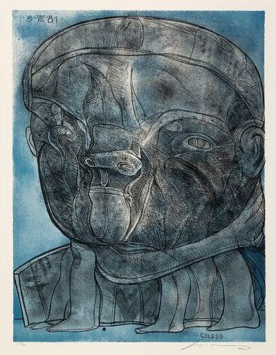 Jose Luis Cuevas, 'Coloso, from Official Arts Portfolio of the XXIVth Olympiad, Seoul, Korea', 1988-89
