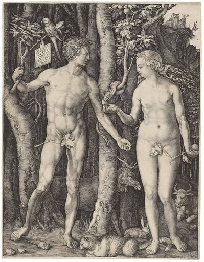 Albrecht Dürer, 'Adam and Eve (B., M,. Holl. 1; S.M.S. 39)', 1504