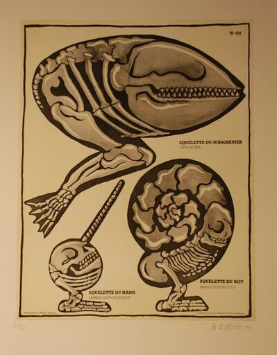 Hervé Di Rosa, 'Squelette de Submariner', 2007