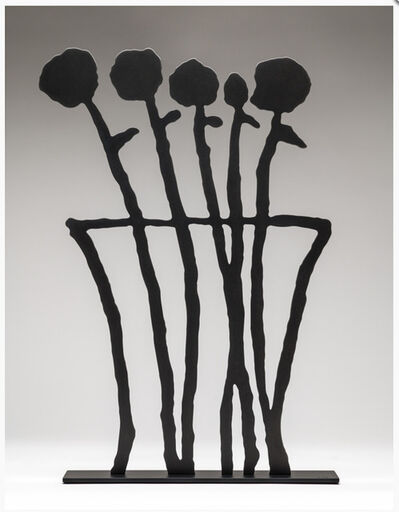 Donald Baechler, 'Black Flowers Sculpture', 2019