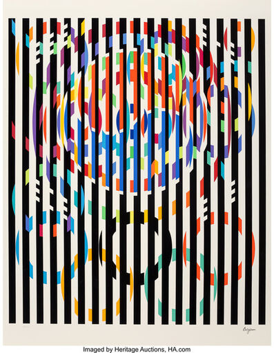Yaacov Agam, 'Message of Peace, from Official Arts Portfolio of the XXIVth Olympiad, Seoul, Korea', 1988