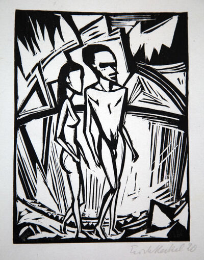 Erich Heckel, 'Zwei am Meer', 1920