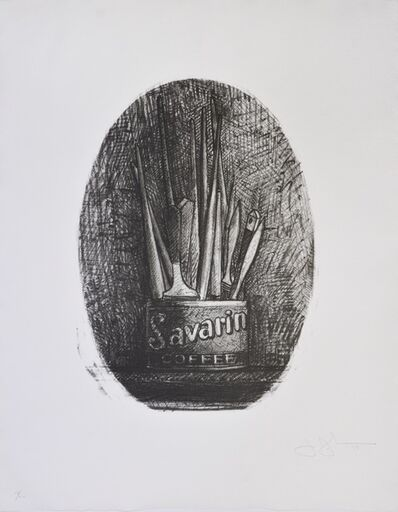 Jasper Johns, 'Savarin 4, Oval', 1978