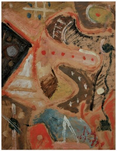 Esteban Lisa, ' Juego de líneas y colores', 1954