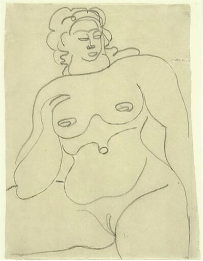 Gaston Lachaise, 'Female Nude', 1920