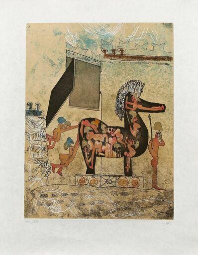 "Roberto Matta, 'Hom'mere Chaosmos ""Hom-mere""', 1975"