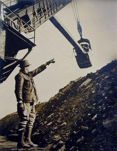 William Rittase, 'Untitled - Man directing steam shovel', ca. 1930
