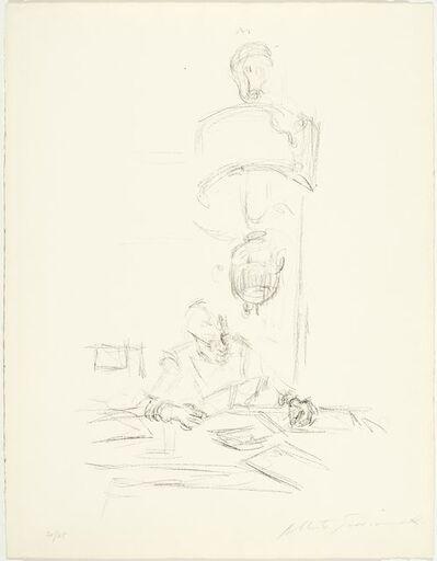 Alberto Giacometti, 'La mère de l'artiste lisant sous la lampe à Stampa II', 1963
