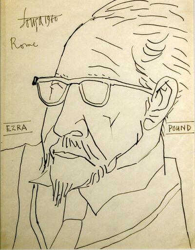 Francis Newton Souza, 'Ezra Pound', 1960