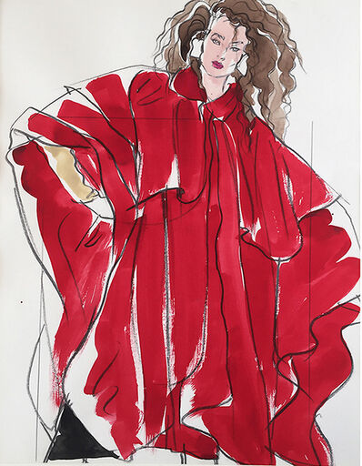 Antonio Lopez, 'Woman in Red, Vogue Magazine, S. Burroughs, ', 1981