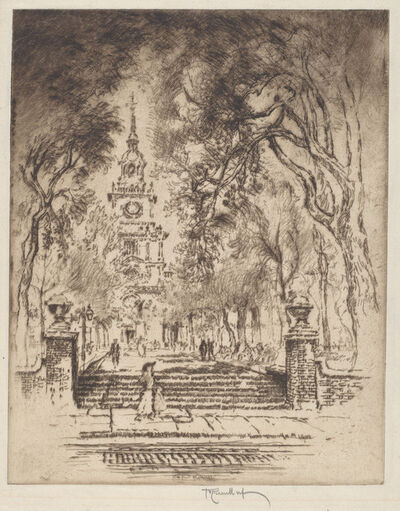 Joseph Pennell, 'The Square, Independence Square, Philadelphia', 1920