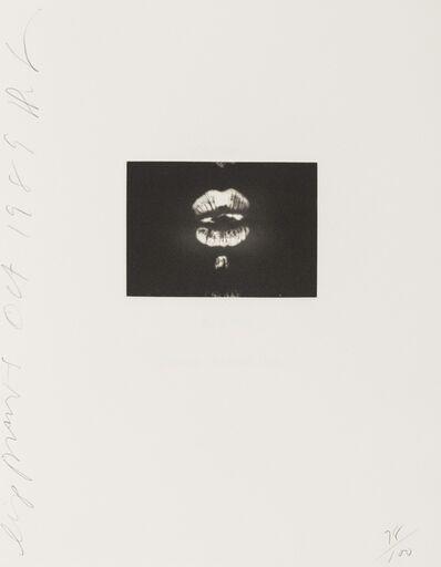 Donald Sultan, 'Lip Prints', 1989