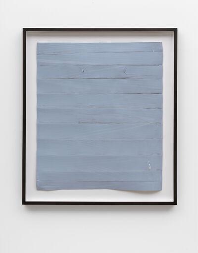 Özcan Kaplan, 'Papierarbeit (blau) #2, Januar 2018', 2018