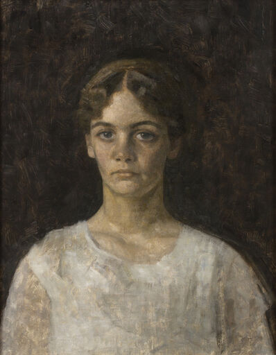 Vilhelm Hammershøi, ' Portrait of Miss Else Aagesen', 1913