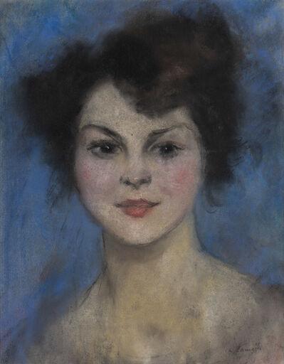 Charles Camoin, 'Brune sur fond bleu', ca. 1920