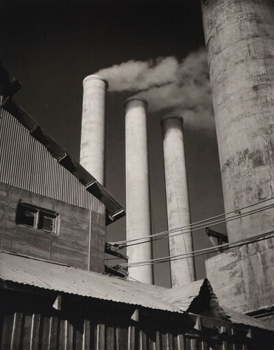 Willard Van Dyke, 'Three Stacks, Monolith California, Cement Plant', c. 1931-printed later