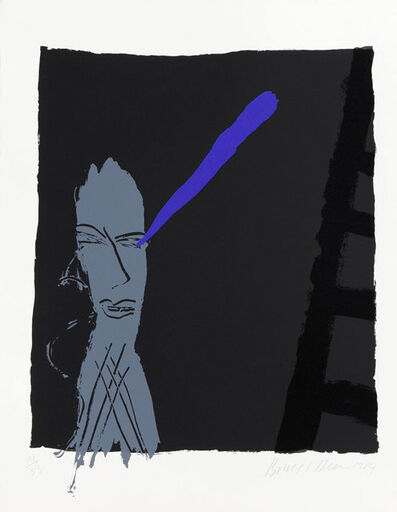 Bruce McLean, 'Head and Ladder (black background)', 1984