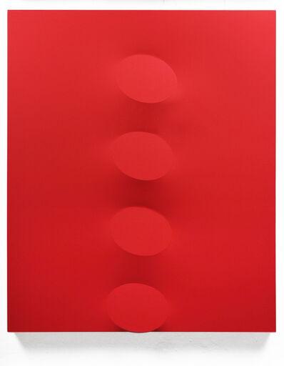 Turi Simeti, '4 ovali rossi', 2019