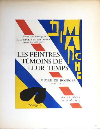 Henri Matisse, 'Les Peintres Temoins de leur Temps', 1959