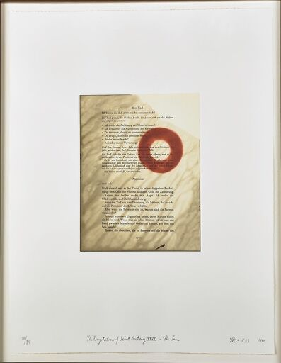 Tim Rollins and K.O.S., 'The Temptation of Saint Anthony XXXVI - The Sun  (No. 21)', 1990