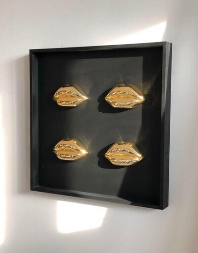 Niclas Castello, 'Cleopatra's Lips x 4 - Gold', 2018