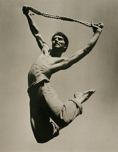 Barbara Morgan, 'Erik Hawkins, El Penitente, Back Leap', 1940