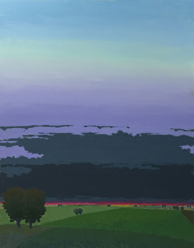 John Karl Claes, 'Dark Clouds - Evening'