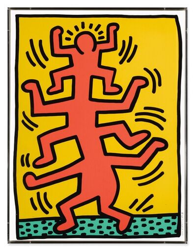 Keith Haring, 'Growing  Plate I', 1988