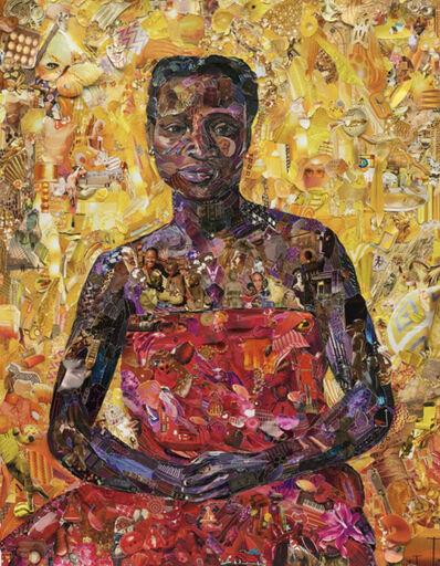 Vik Muniz, 'Seated black woman, after Felix Vallaton ', 2013