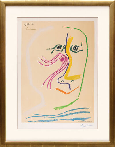 Pablo Picasso, 'Hommage à René Char.', 1969