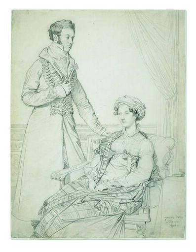 Jean-Auguste-Dominique Ingres, 'Portrait of Sir John Hay and his sister Mary', 1816