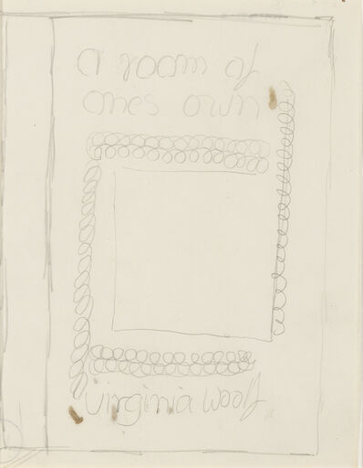 "Vanessa Bell, 'Study for Dust Jacket of ""A Room of One's Own""', 1929"
