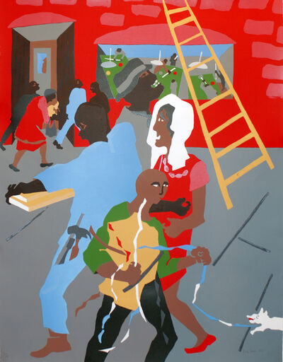 Jacob Lawrence, 'On the Way', 1990