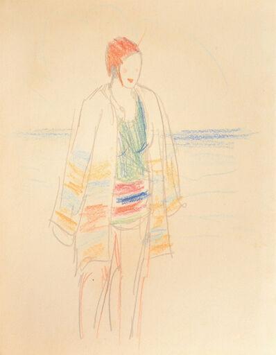Kiyoshi Saito, 'Beach Day', ca. 1928