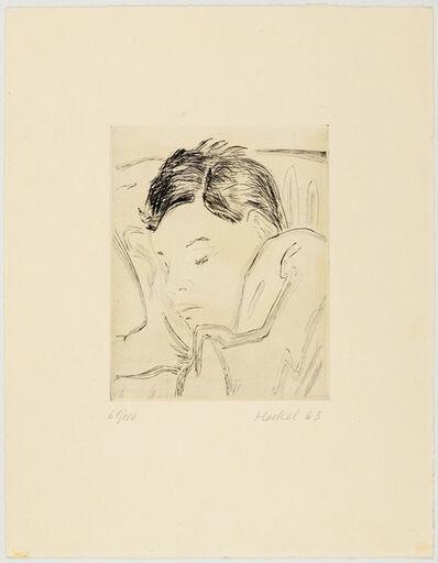 Erich Heckel, 'Schlafender Knabe', 1963