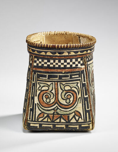 'Basket with polychrome decoration', Second half of 19th century