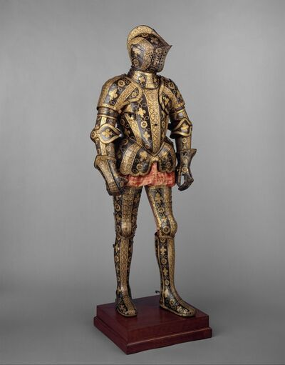 Jacob Halder, 'Armor Garniture of George Clifford (1558–1605), Third Earl of Cumberland', 1586