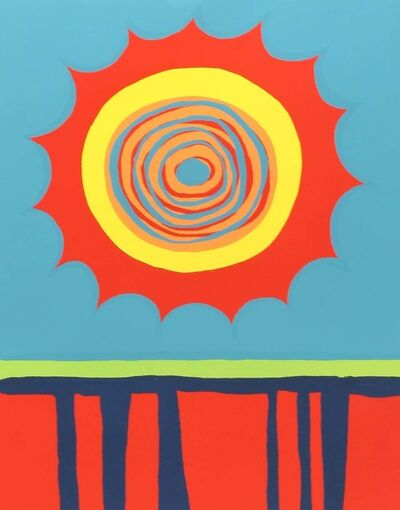 Wilhelmina McAlpin Godfrey, 'Red, Hot, and Blue', 1971